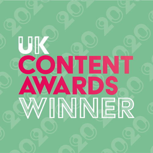 UK Content Awards 2020 Winner badge