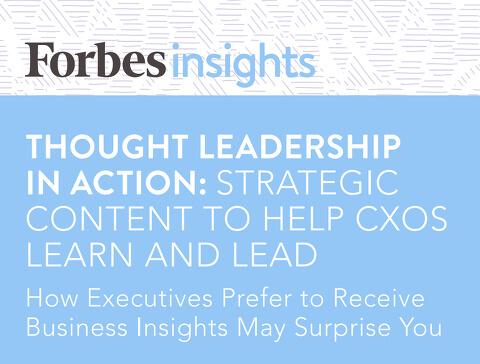Forbes insights - thought leadership in action