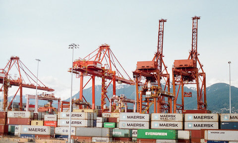 Port and shipping containers, Vancouver